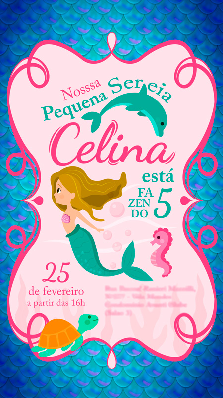 Convite Aniversario Celina Platas